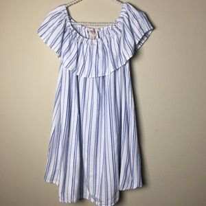 EUC   Mossimo Blue and White Dress  bSize: S